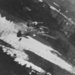 Mistel Bf109 + Ju88 in gun camera