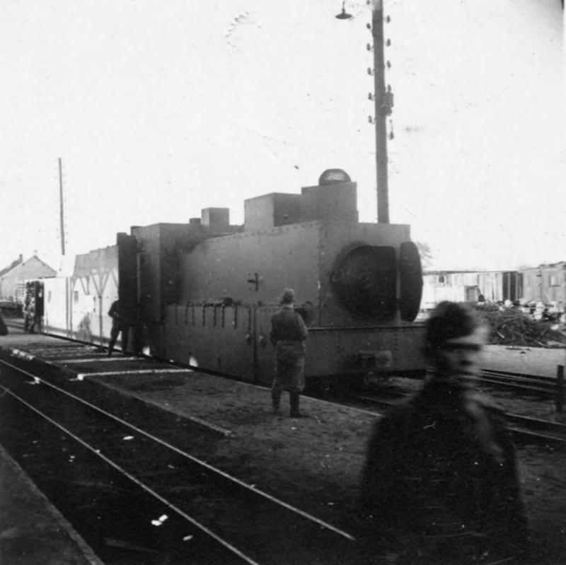 Captured soviet armored locomotive
