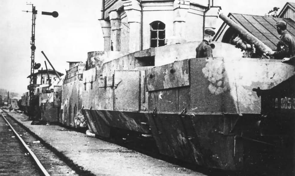 Captured soviet armoured train