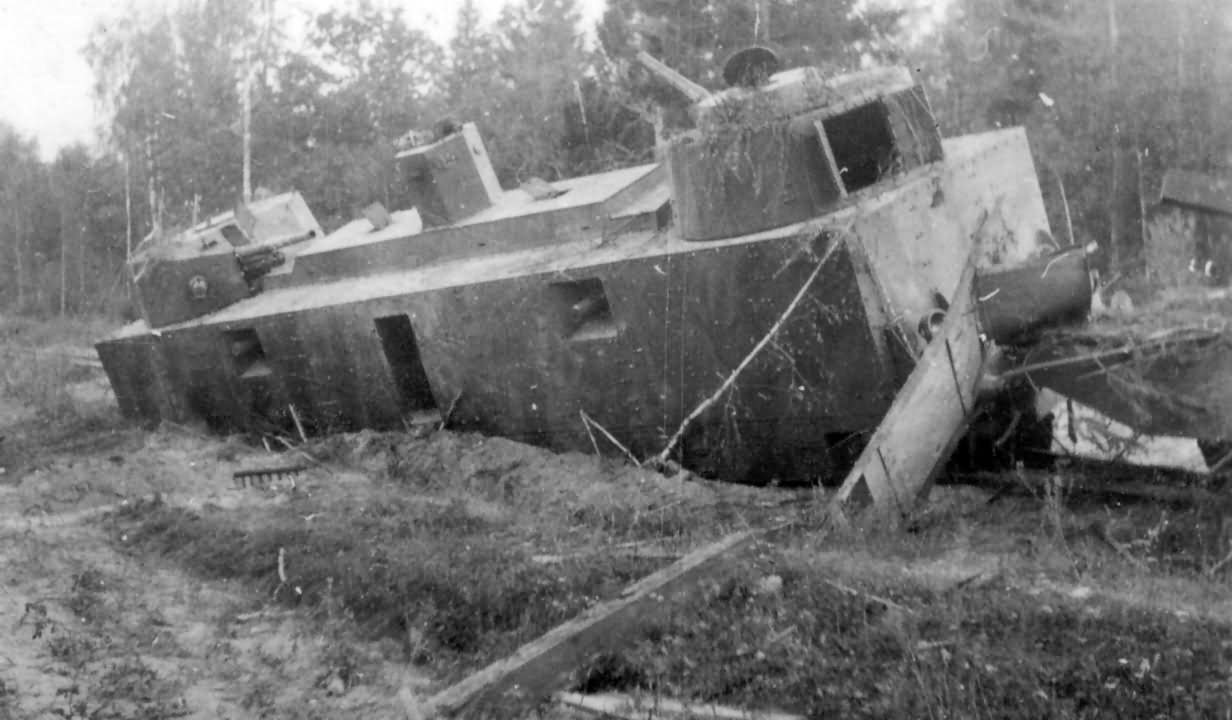 Destroyed russian armored train 3