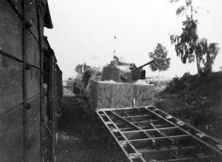 Destroyed russian armored train 6