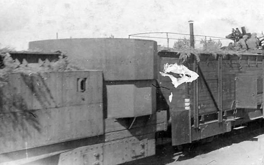 Panzerzug Flakstand eastern front 1942