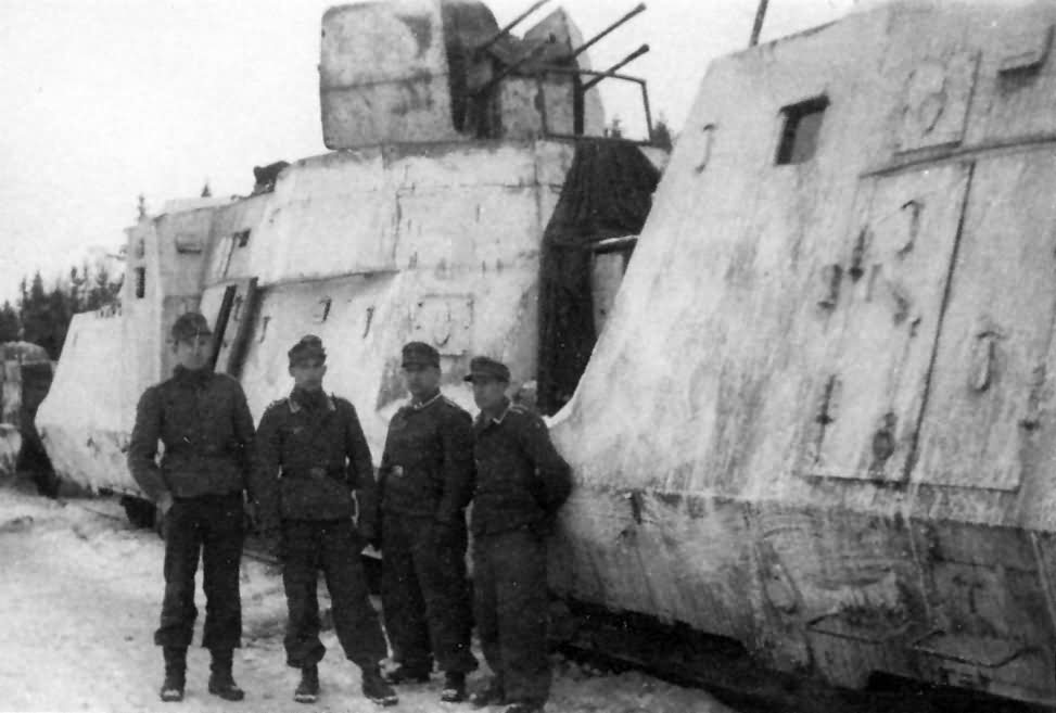 Panzerzug german armored train winter camouflage