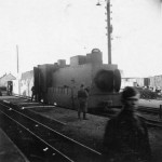 Captured soviet armored locomotive