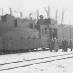 Captured soviet armoured steam locomotive