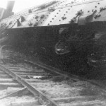 Destroyed armored train