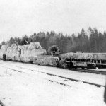 German armored train Panzerzug winter camo