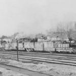German armoured train Panzerzug in Dorogobusch Russia