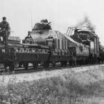 German armoured train with Somua S35 tank eastern front