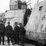 Panzerzug german armored train winter camouflage