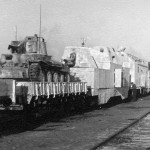 Panzerzug german armored train with panzer 38t winter camouflage
