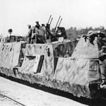 Panzerzug typ BP42, artillerie und flakwagen 2cm Vierlings Fla,k eastern front 1943