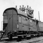 Railcar with flak MG Frankfurt Main Bahnhof 1940