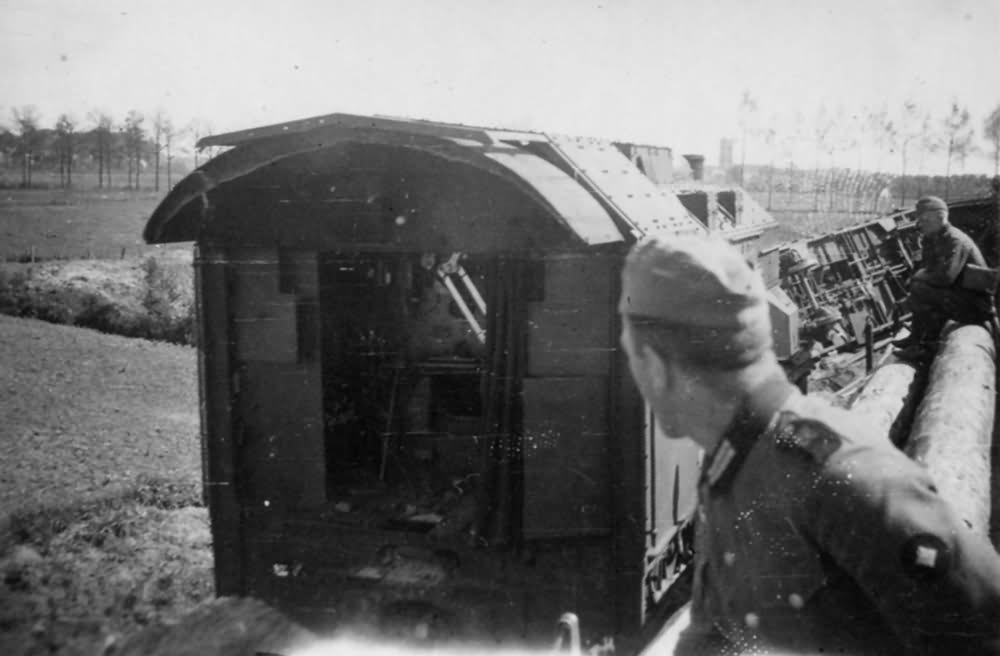 derailed Panzerzug number 1 Holland May 1940