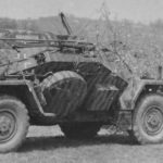 Camouflaged SdKfz 222 3