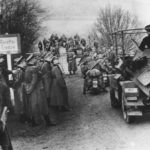 German SdKfz 223 entering Luxembourg