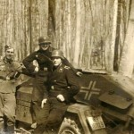 sdkfz 221 and wehrmacht soldiers