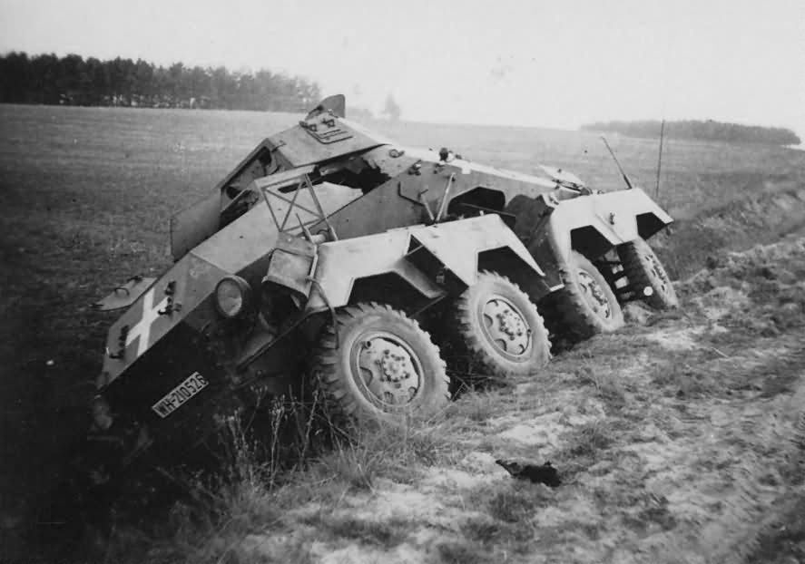 Destroyed SdKfz 231 Poland 1939