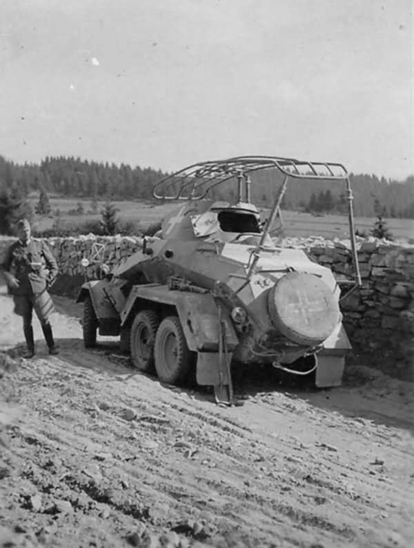 Sd.Kfz.232 6 Rad rear view