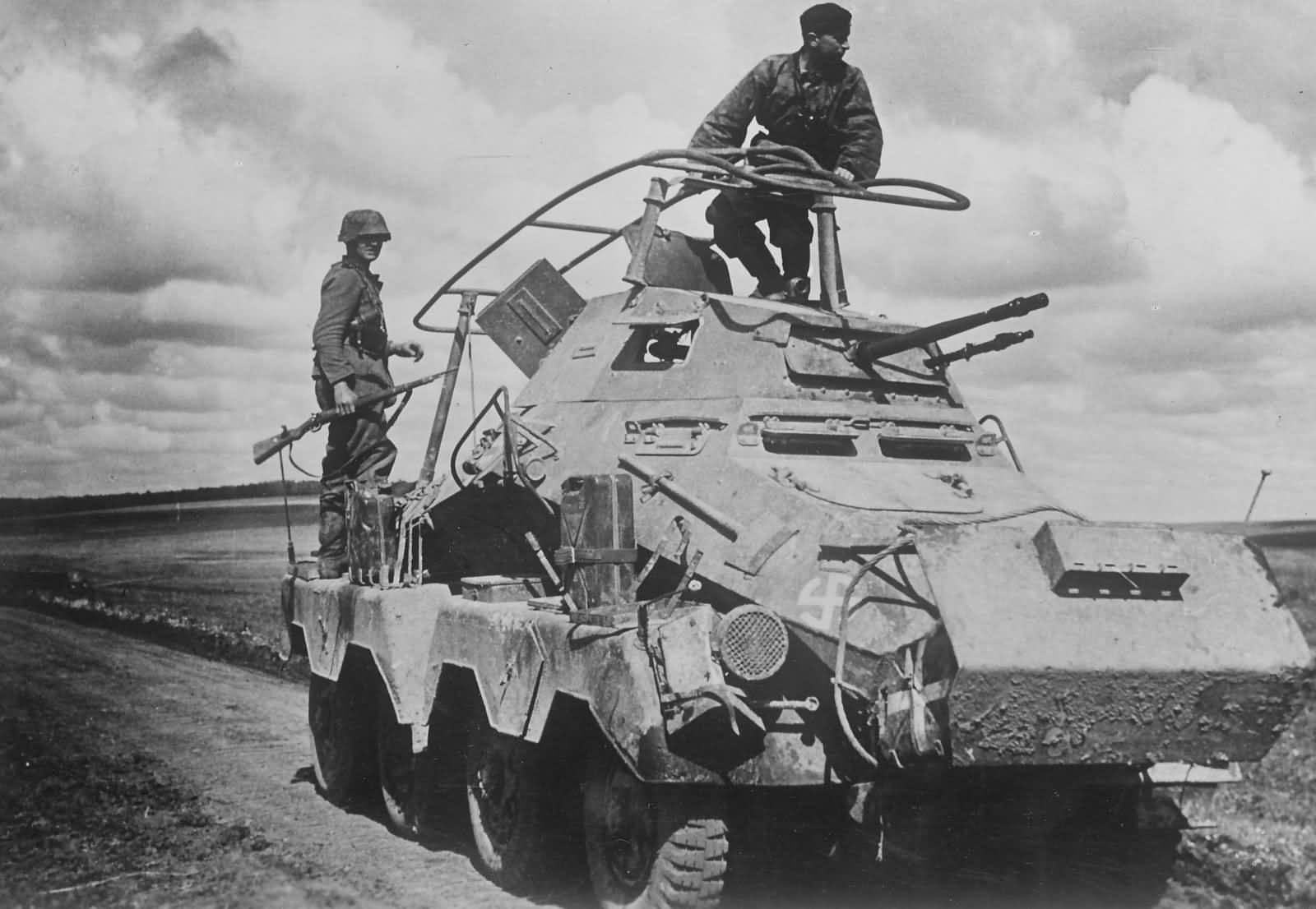 SdKfz 232 of the 5 SS Panzer Division Wiking Waffen SS