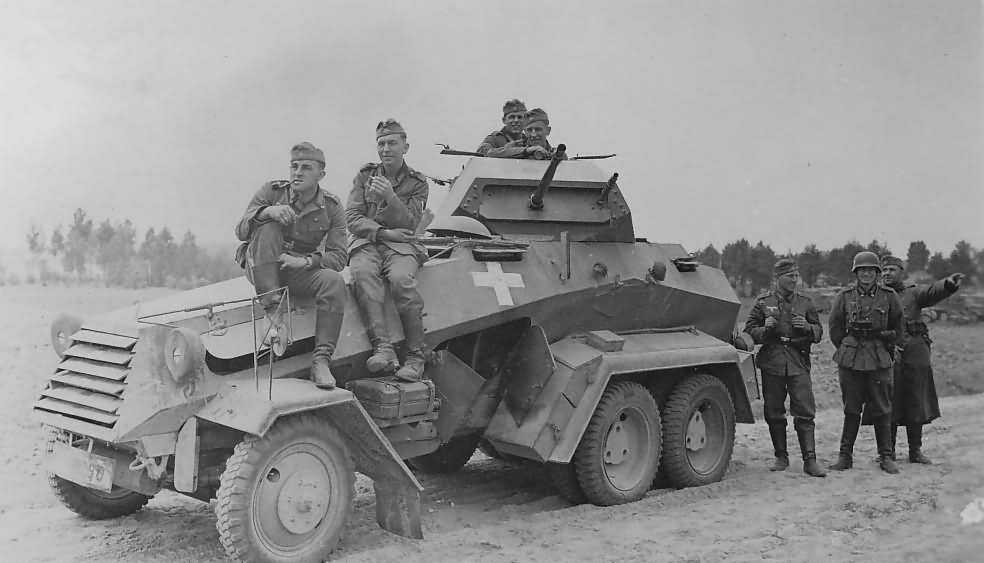 Six-wheeled SdKfz 231 armoured car – Poland 1939