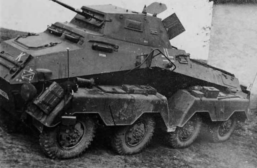 Heavy, eight-wheeled armoured car Sdkfz 231 8-rad