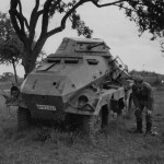 Destroyed German 8 Wheeled Heavy Armoured Car SdKfz 231