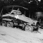 Destroyed SdKfz 232 6-Rad