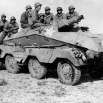 US Soldiers in Captured German SdKfz 233 Stummel
