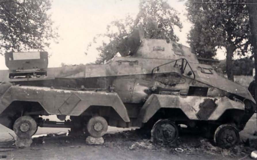 sdkfz 231 8 rad destroyed
