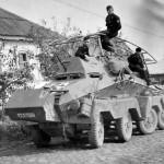 Panzerfunkwagen 8-Rad SdKfz 263 with flag
