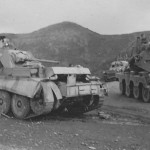 SdKfz 263 (8-Rad) of the 15 Panzer Division Greece and A13 tank 1941