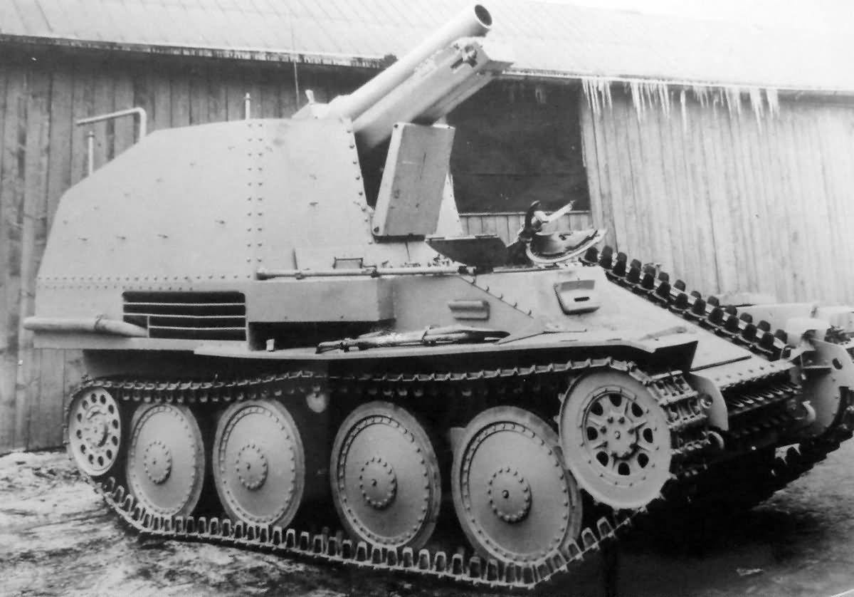 Grille Ausf. M 15 cm s.I.G. 33 (Sf) auf Selbstfahrlafette ...