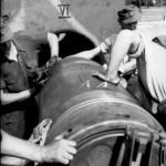 Heavy mortar Karl Gerat VI Ziu Warsaw Uprising 1944 Shell Being Loaded