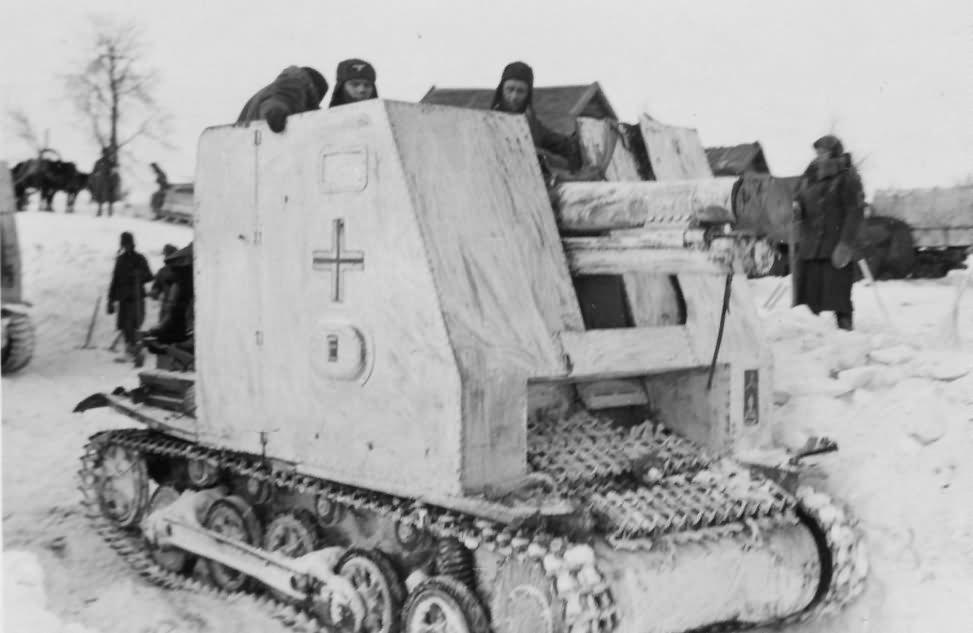 15 cm sIG33 Selbstfahrlafette auf Pz.Kpfw.I Ausf.B Bison winter camouflage