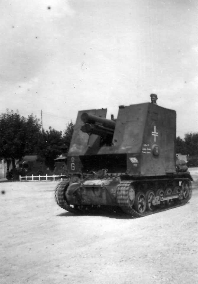 15 cm sIG 33 Bison 1 Panzer Division France 1940