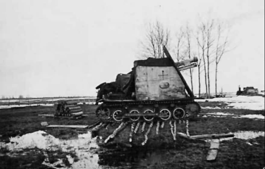 15 cm sIG 33 Bison winter camouflage