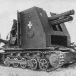 Captured German Bison I of sIG Kompanie 705 Eastern Front 1942