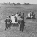 battery of Wespe self propelled howitzers supporting German forces 1943
