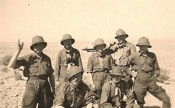 Wehrmacht Afrika Korps Soldiers with MG34 Machine Gun