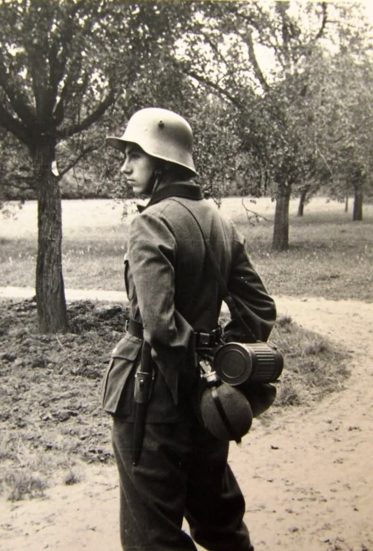 Wehrmacht soldier with Stahlhelm