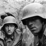 Battle Weary German Troops in Stahlhelm in Trench Kiev 1941 Eastern Front