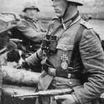 German Officer with MP38 submachine gun