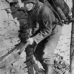German Soldier with Flamethrower Somewhere in Russia 1941