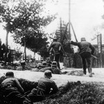 German Troops in Action During Street Fighting in Kovno 1941 Unternehmen Barbarossa