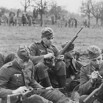 Wehrmacht Soldiers Cleaning Mauser 98k Rifles