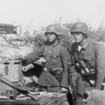 Wehrmacht soldiers with hand grenades and K98 Eastern Front