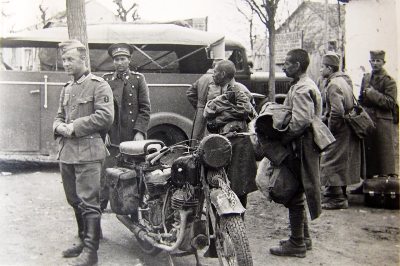 wehrmacht bmw motor and Balkans pow