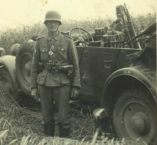 wehrmacht soldier and car