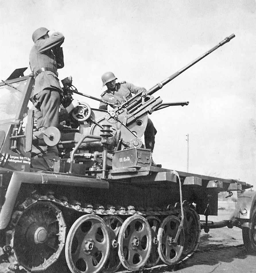 Self-propelled anti-aircraft gun Demag SdKfz 10/4